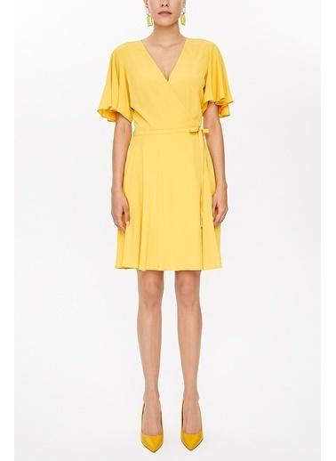 Societa Anvelop Mini Elbise 93225 Sarı